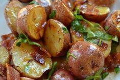 Salade de pommes de terre chaude au bacon moutarde et miel