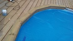 Piscine Intex Ultra Frame, Intex Pool, Wooden Decks, Tub, Outdoor Decor, Piscine Hors Sol, Wooden Terrace, Pools, Lawn And Garden