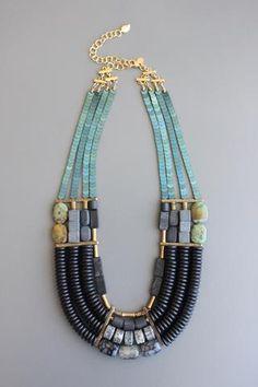 How To Make Silver Bracelets Key: 1563892680 Beaded Statement Necklace, Beaded Jewelry, Jewelry Necklaces, Jewellery, Women Jewelry, Fashion Jewelry, Chunky Jewelry, Schmuck Design, Necklace Designs