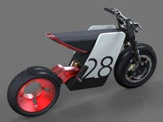 The Supermoto is a custom-created combination of off-road motorcycle and road-racing wheels/tires, known as 'supermotard' bike. Quite sporty is their approach; the bikes ride super easy Velo Design, Bicycle Design, Futuristic Motorcycle, Motorcycle Bike, Vintage Moped, Motorbike Design, Concept Motorcycles, Moto Cafe, 3d Models