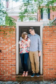 Colorful city engagement session in Richmond, VA by Jeffrey C. Gleason Photography | See more on richmondweddingcollective.com