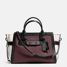 COACH Designer Handbags   Coach Swagger With Chain In Pebble Leather