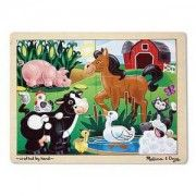 Melissa Doug On the Farm Jigsaw pc) - Ages 3 up. The duck is in the pond and the pig is in the corn in this wooden jigsaw puzzle featuring a happy farm scene. Comes packaged in a sturdy, wooden tray for puzzle building and ea Puzzles For Kids, Activities For Kids, Toddler Puzzles, Wooden Jigsaw Puzzles, Melissa & Doug, Imaginative Play, Farm Animals, Kids Toys, Hand Painted
