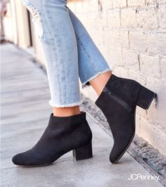 Simple, black booties take your back-to-school look from basic to extra cool. The shoes that go anywhere and do everything, you'll never want to leave home without them.