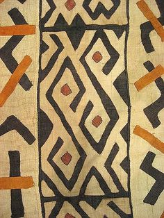 African Beauty around here which means time for another favorite fabric & pattern find. Today gonna be the African Kuba Cloth that only discovered recently. Kuba cloths are African tribal fabrics that Design Textile, Textile Patterns, Floral Patterns, African Textiles, African Fabric, African Tribal Patterns, Ethnic Patterns, African Prints, Art Café