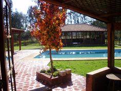 Hotel Finna Estampa - view of the pool.. #Colchagua