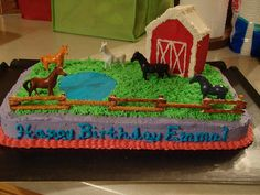 VisitToMarys-Mar11 014 | Flickr - Photo Sharing! Western Birthday Cakes, 8th Birthday Cake, Western Cakes, Horse Birthday Parties, Farm Birthday, Birthday Ideas, Easy Cakes For Kids, Farm Themed Party, Farm Animal Party
