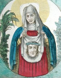 https://flic.kr/p/5QpsxD   Veronica for Veronika   An 18th century hand-coloured devotional print of Saint Veronica showing the face of Christ.  My best friend is called Veronika and I have uploaded this picture as a tribute to her. Hence the title.