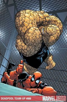 DeadPool  The Thing Pic is just fantastic and funny Marvel Art