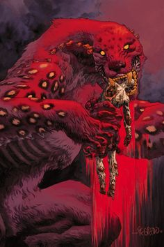 Power Item of the Day - Captain Ben Daimio's curse which causes him to transform into a jaguar demon powered by a weird form of Lycanthropy. Comic Kunst, Comic Art, Lac Michigan, Susanoo, Wow Art, Creature Concept, Fantasy Inspiration, Art And Illustration, Horror Art