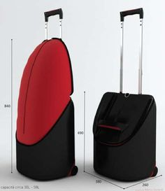 Yawning Expandable Bags - The ExtraLarge Suitcase Upsizes with the Opening of its Top (GALLERY)