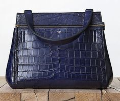 Céline Edge in midnight navy blue croc - AHH!