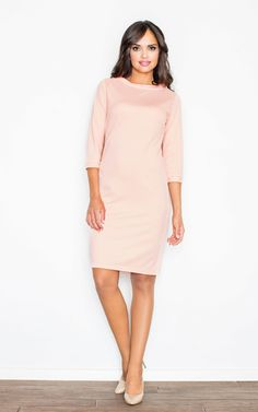 Pink Boat Neckline Cocktail Dress - SilkFred