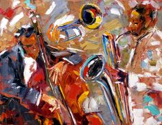 abstrabst jazz art painting music paintings by Debra Hurd, painting by artist Debra Hurd