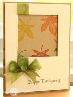 Leafy Thanksgiving by whoistracy - Cards and Paper Crafts at Splitcoaststampers