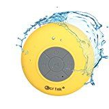 Kcrtek Portable Wireless Shower Room SpeakerBluetooth Bathroom speaker Built-in hands-free for Apple Iphone 6 5 5s 5c Ipod Ipad Samsung Galaxy Note 4 3 S5 S4 S3 Nokia and Other Android Cell Phones and Tablet Yellow color