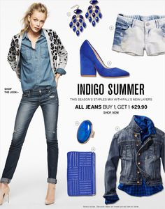Indigo Summer | This Season's staples mix with fall's new layers
