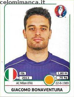 UEFA EURO 2016™ Official Sticker Album: Fronte Figurina n. 510 Giacomo Bonaventura