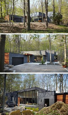Setless Architecture have designed a home surrounded by nature in Dundas, Ontario, Canada.