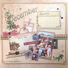 Pinsday: @Graphic 45® Place in Time Calendar // December #readysetlove #graphic45