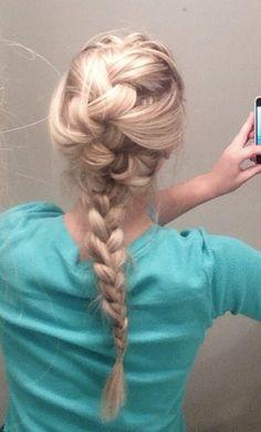 Elsa Frozen hair