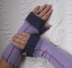 6a1d5751661d 61 Best fingerless gloves made from repurposed sweaters images ...