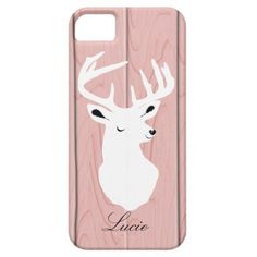 Stag Deer Pink Personalized Phone Case