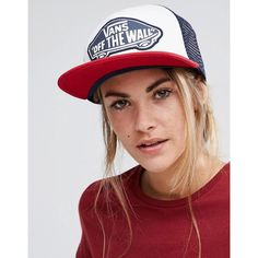 Vans Classic Beach Girl Trucker Hat (€23) ❤ liked on Polyvore featuring accessories, hats, multi, flat bill snapback, flat bill hats, vans snapback, cotton hat and strap hats