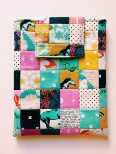 Sweet little patchwork. I love the Cotton & Steele fabric. Hot pink, mustard, aqua.. fun and funky palette!