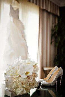 Brides: A Glamorous Wedding at the St. Regis Monarch Beach Resort | Glamorous Weddings | Real Weddings | Brides.com
