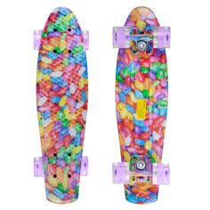 Graphic Penny Style Cruiser Board 22 inch Retro Plastic LED Skateboard Complete #PennyBoard #CruiserSkateboard