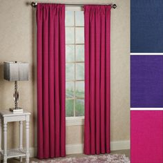 Kendall Bright Thermaback(TM) Blackout Curtain Panels