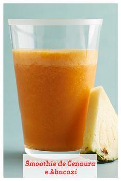 A combinação das cenouras cheias de betacaroteno e do abacaxi rico em vitaminas é deliciosa e saudável neste smoothie refrescante. Congelar suco de cenoura elimina a necessidade de adição de cubos de gelo, e amamos usar tâmaras secas como adoçante natural.