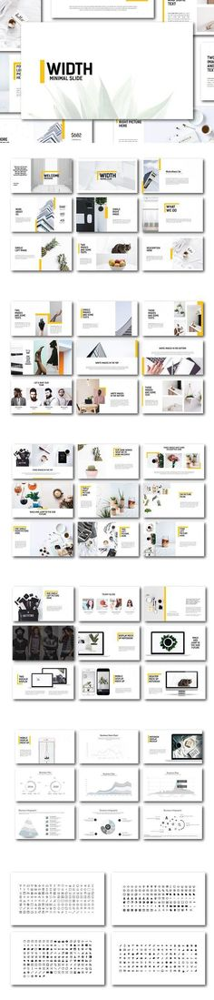 Presentation Templates - Keynote - Ideas of Keynote - Width Minimal Powerpoint Template. Keynote Design, Design Brochure, Brochure Layout, Design Presentation, Business Presentation Templates, Presentation Slides, Template Power Point, Layout Design, Web Design