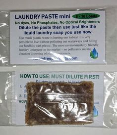 Sometimes we just want to try before we buy. Check out the Laundry Paste Mini. You dilute it at home and will have enough liquid laundry soap to wash 8 - 16 loads of laundry.  #wastefreeproducts #refillyourowncontainer