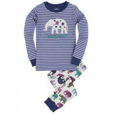 Hatley Childrens Designer Clothes Girls Pyjamas Elephants - Dandy Lions Boutique