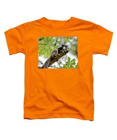 Fox Toddler T-Shirt featuring the photograph Fox Squirrel by Cynthia Guinn
