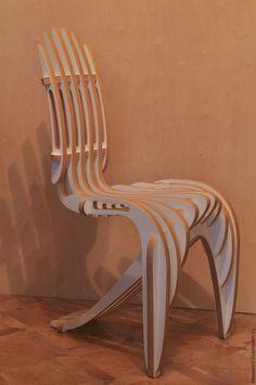 Мебель ручной работы. Ярмарка Мастеров - ручная работа. Купить Стул головоломка. Handmade. Стул из фанеры, дизайнерский стул