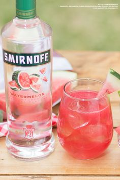 Make your next summer picnic (or backyard BBQ) one to remember with the delicious and refreshingly tasting Watermelon Smash.  Recipe: 1.5 cups Smirnoff Watermelon, Crushed Watermelon or Watermelon Juice, 3 Cups Tonic, Serves 6-8.