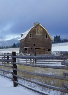 Barn in the winter time!