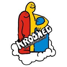 Krooked Skateboards <br> Krooked Cloud Crowd Sticker - Medium