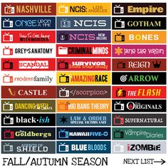 US TV Series Fall/Spring Season Sticker Planner by FasyShop