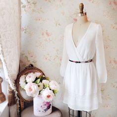 Laurencina  www.1861.ca #boutique1861 #cute #dress #whitelace #floral…
