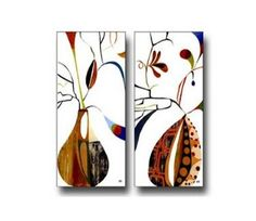 2 Piece Canvas Art Modern Art 100% Hand Painted Oil Painting on Canvas Wall Art Deco Home Decoration (Unstretch No Frame) by galleryworldwide, http://www.amazon.com/dp/B009YRGJO6/ref=cm_sw_r_pi_dp_2JaUrb1VPMCKY