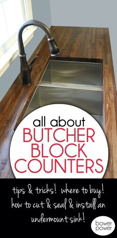 How to Cut, Seal & Install Butcherblock Countertops (with an undermount sink!) Source by kwpub The post How to Cut, Seal & Install Butcherblock Countertops (with an undermount sink!) & Bower Power appeared first on Zain DIY. Kitchen Countertop Materials, Kitchen Countertops, Kitchen Cabinets, Diy Butcher Block Countertops, Soapstone Kitchen, Laminate Countertops, Countertop Options, Kitchen Cupboard, Kitchen Sinks