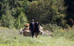 president + first lady at 9/11 pa crash site.