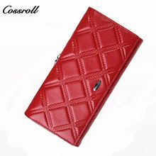 610762766010 Cossroll Genuine Leather Women Wallets Fashion Wallet Woman Luxury Brand  Long Purses with Card Holder Coin