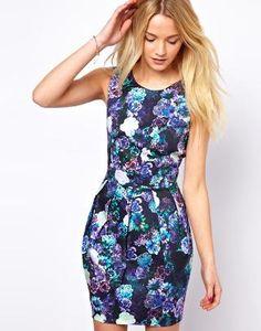 A Wear   A Wear Digital Floral Print Dress at ASOS