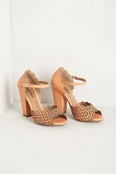 Spring 2014 Collection: Cartwheel Heels in peach by Klub Nico found them at #anthropologie