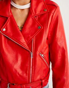 Biker jacket - Coats and jackets - Clothing - Woman - PULL&BEAR Sweden